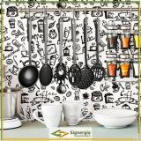 onde comprar papel de parede para cozinha Indaiatuba